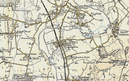 Old map of Eckington in 1899-1901