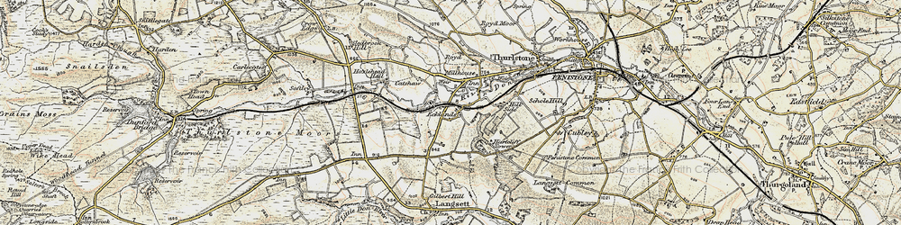 Old map of Ecklands in 1903