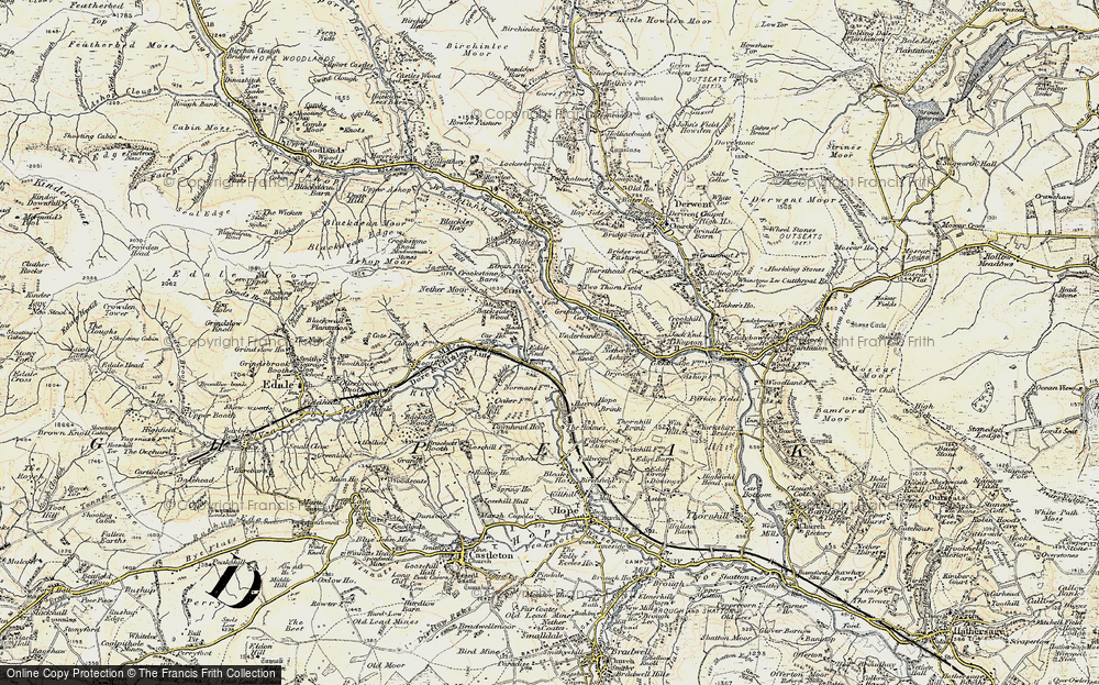 Old Map of Historic Map covering Wooler Knoll in 1903