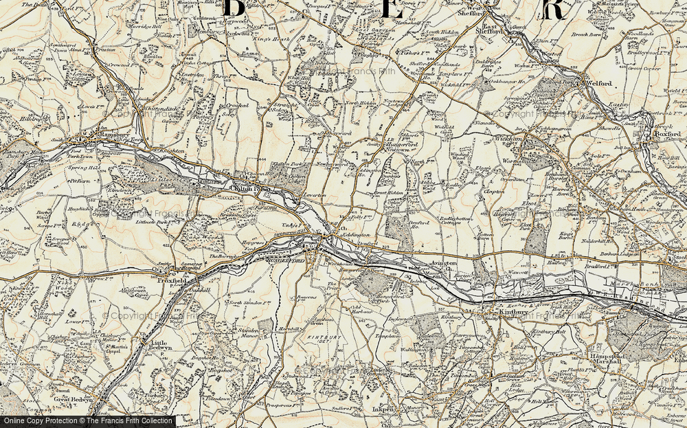 Old Map of Eddington, 1897-1900 in 1897-1900