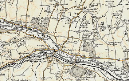Old map of Eddington in 1897-1900