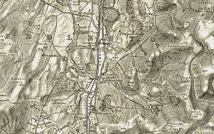 Old map of White Barony in 1903-1904
