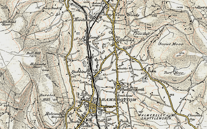 Old map of Edenfield in 1903