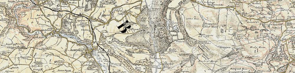Old map of Edensor in 1902-1903