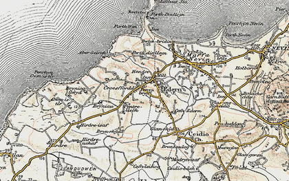 Old map of Aber Geirch in 1903