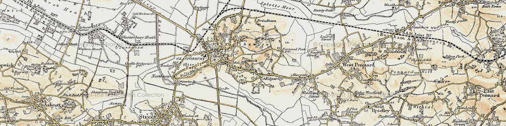 Old map of Wick in 1899