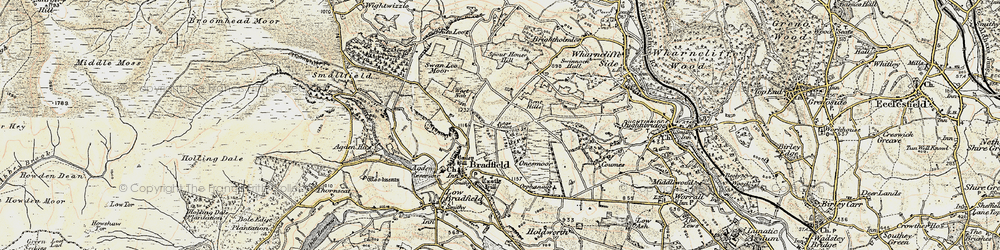 Old map of White Lee Moor in 1903