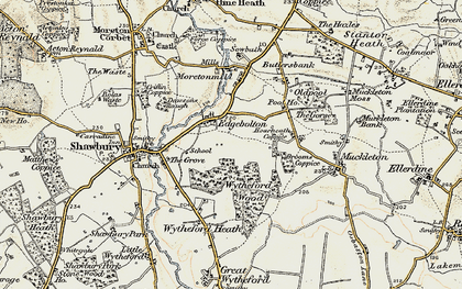 Old map of Wytheford Wood in 1902