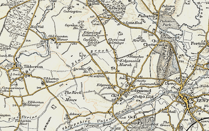 Old map of Anceller Ho in 1902