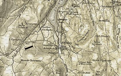 Old map of Edinbane in 1909