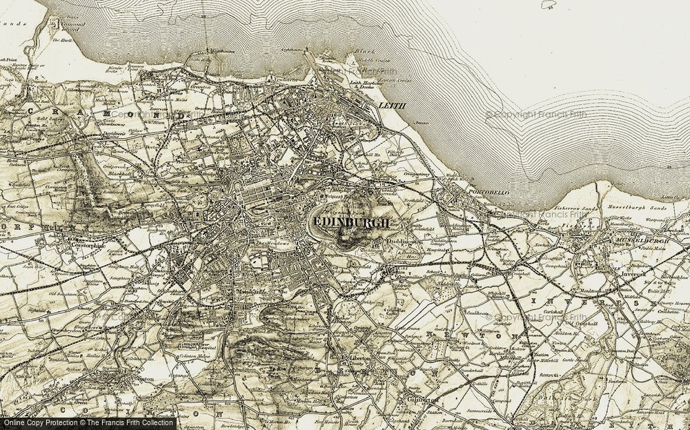 Old Maps of Edinburgh - Francis Frith