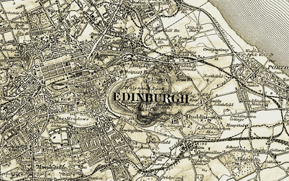Old map of Edinburgh in 1903-1904