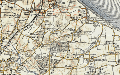 Old map of Witton Hall in 1901-1902