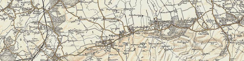 Old map of Edington in 1898-1899