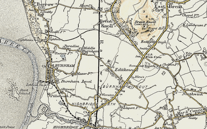 Old map of Worston Ho in 1899-1900