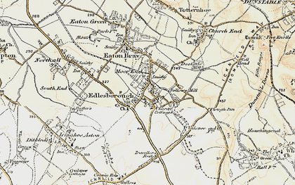 Old map of Edlesborough in 1898-1899