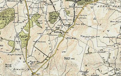 Old map of Edlingham in 1901-1903