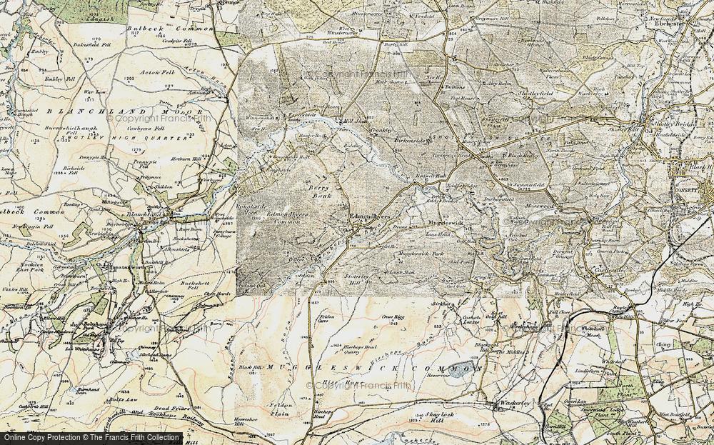 Old Map of Edmundbyers, 1901-1904 in 1901-1904