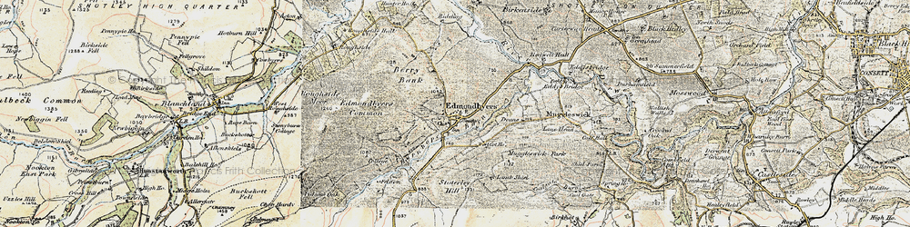 Old map of Edmundbyers in 1901-1904