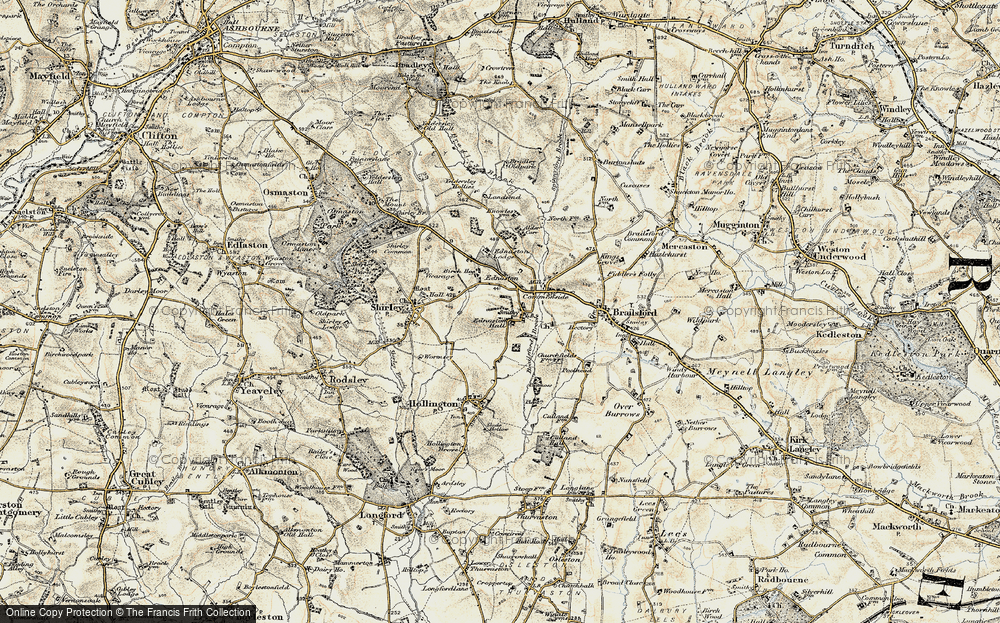 Old Map of Historic Map covering Alder Carr in 1902