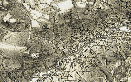 Old map of Tombuie in 1906-1908