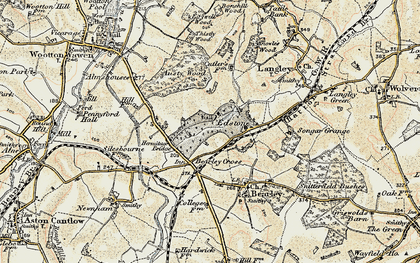 Old map of Austy Wood in 1899-1902