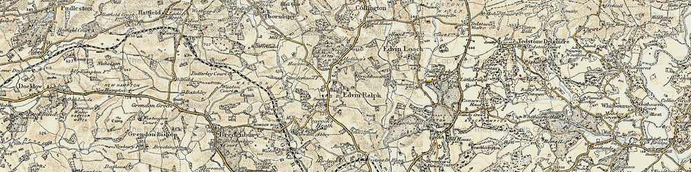 Old map of Winslow Grange in 1899-1902