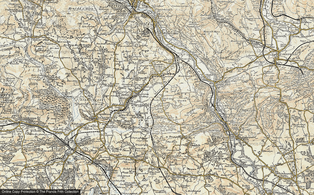 Old Map of Efail Isaf, 1899-1900 in 1899-1900