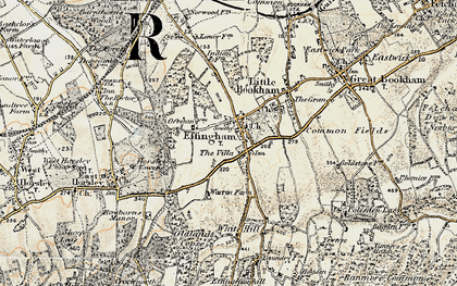 Old map of White Hill in 1898-1909