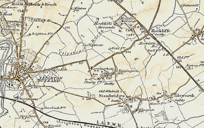 Old map of Eggington in 1898-1899