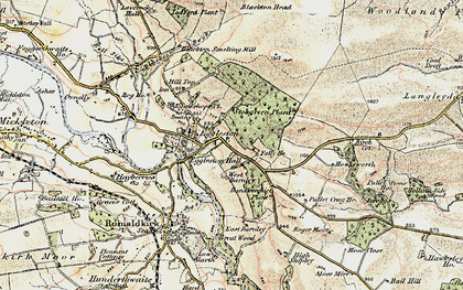 Old map of Eggleston in 1903-1904