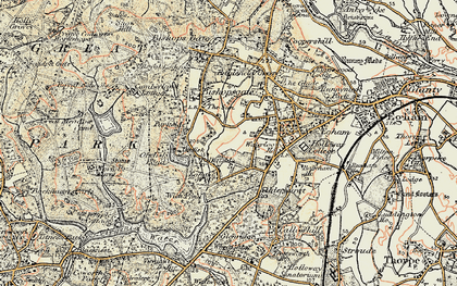 Old map of Wick Pond in 1897-1909