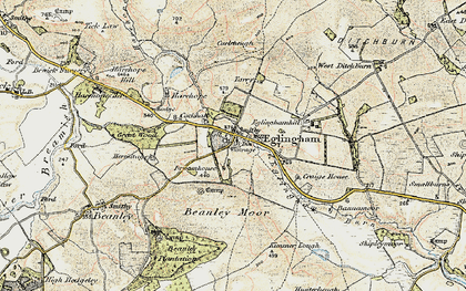 Old map of Bannamoor in 1901-1903