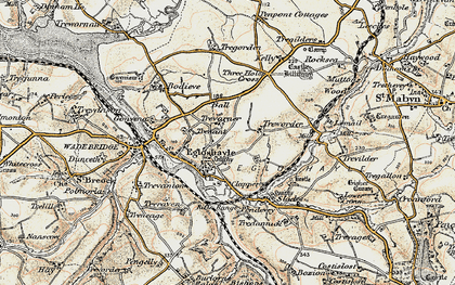 Old map of Egloshayle in 1900