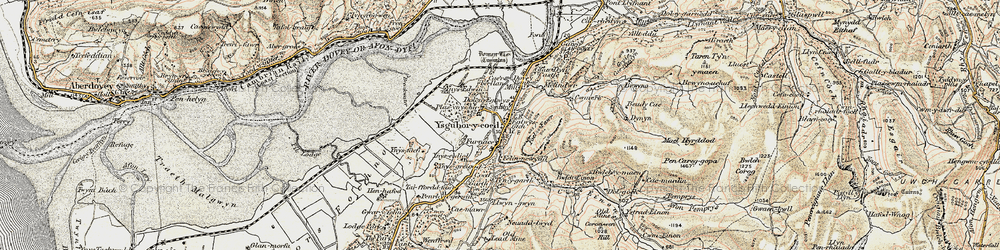 Old map of Ynys-hir Nature Reserve in 1902-1903