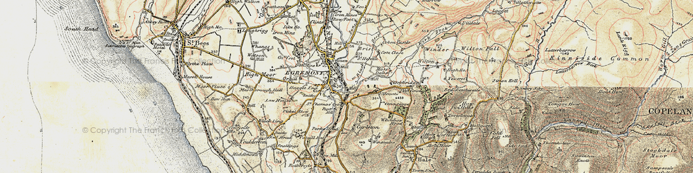 Old map of Egremont in 1903-1904