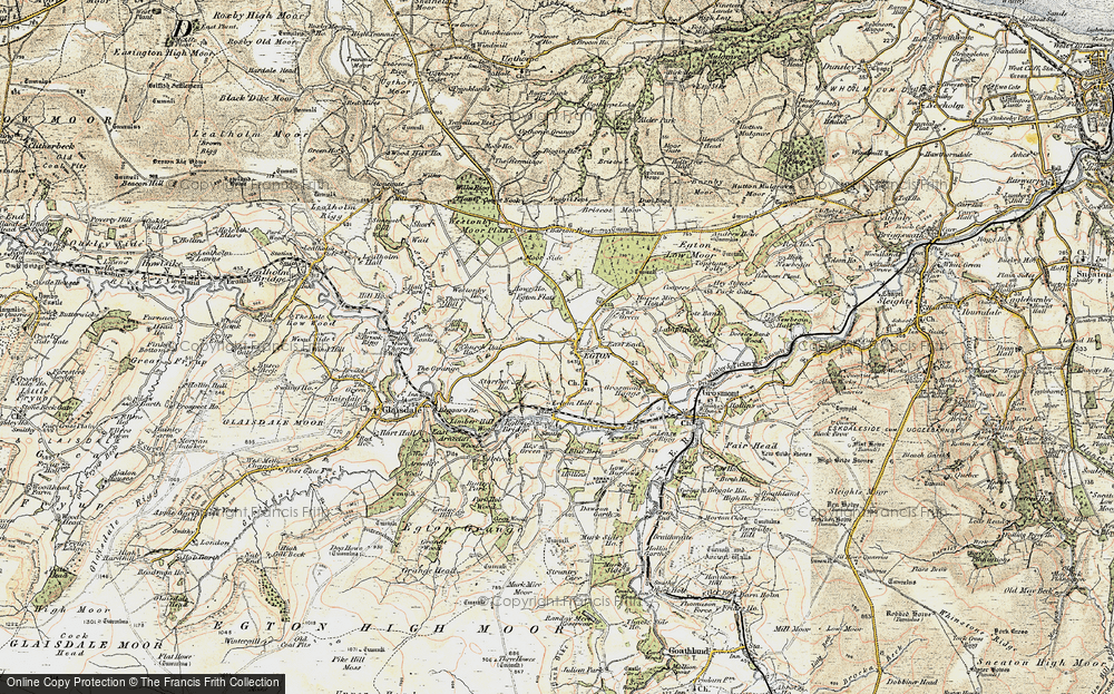 Old Map of Egton, 1903-1904 in 1903-1904