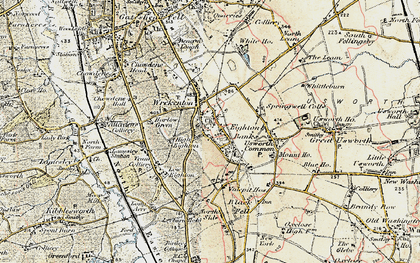 Old map of Eighton Banks in 1901-1904