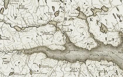 Old map of Allt na Gile Mòire in 1909-1911