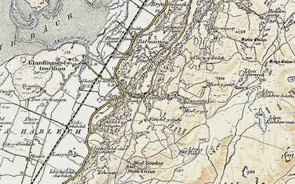 Old map of Afon Eisingrug in 1903
