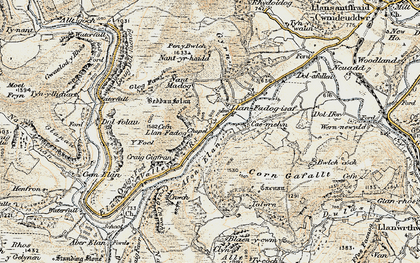 Old map of Y Glog Fawr in 1900-1903