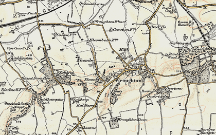 Old map of Elcombe in 1897-1899