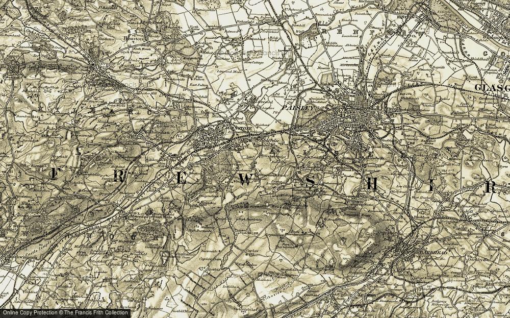 Old Map of Elderslie, 1905-1906 in 1905-1906