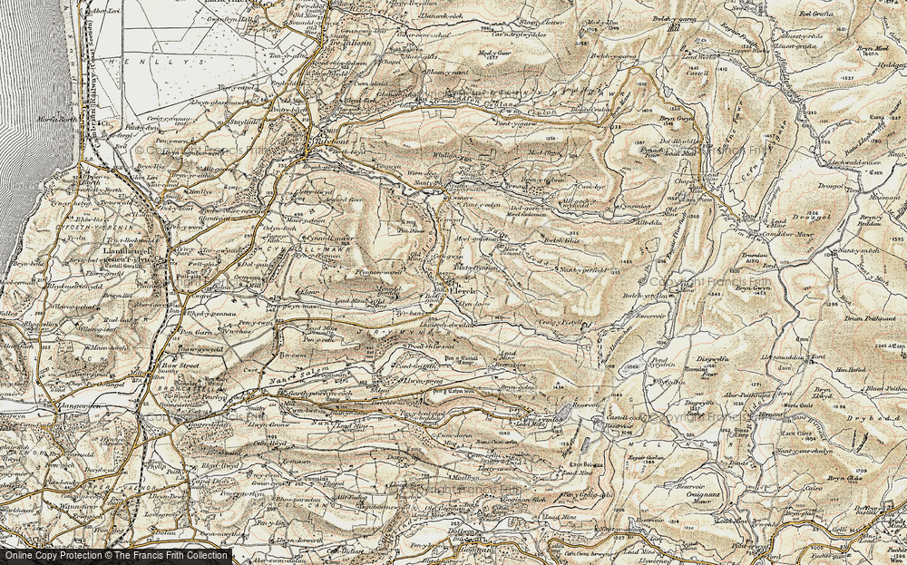 Old Map of Elerch, 1902-1903 in 1902-1903