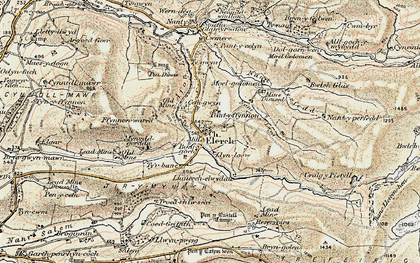 Old map of Elerch in 1902-1903