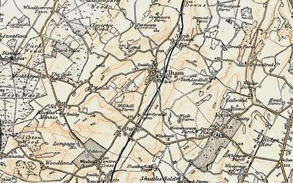 Old map of Elham in 1898-1899