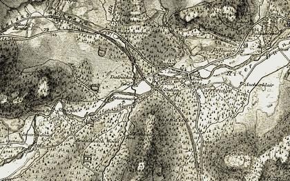 Old map of Ellan in 1908-1911