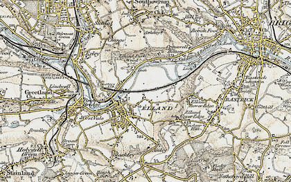 Old map of Elland in 1903