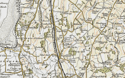 Old map of Banton Ho in 1903-1904
