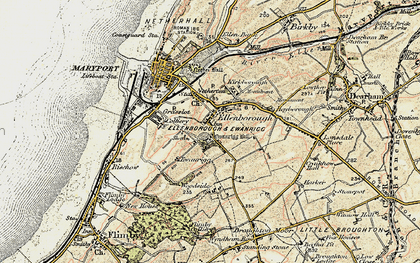 Old map of Woodside in 1901-1905